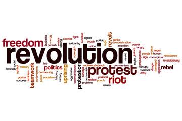 Revolution word cloud