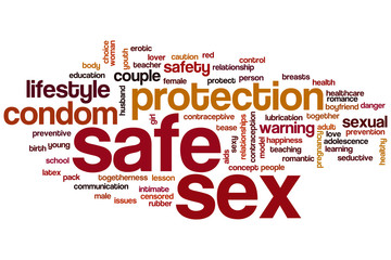 Safe sex word cloud
