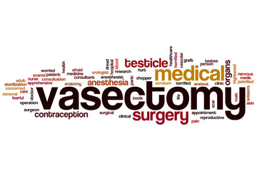 Vasectomy word cloud