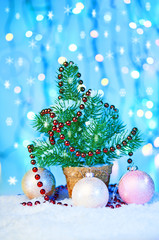 Christmas ornament with fir tree