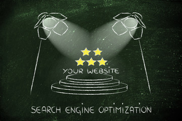 SEO, search engine optimization, spotlight design