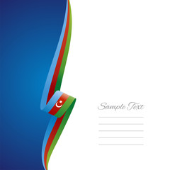 Azerbaijan left side brochure cover vector