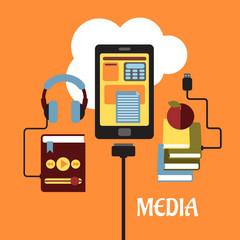 Multimedia flat concept