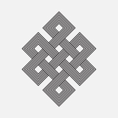 Intertwined pattern, square vector element