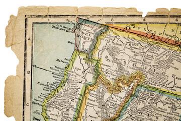 north California on vintage map