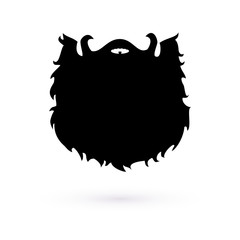 Logo black beard. Raster.