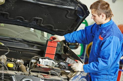 car maintenance - air filter replacing - 72871129