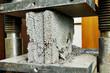 Leinwandbild Motiv concrete quality test