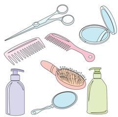 Set Of Hairdressing Accessories