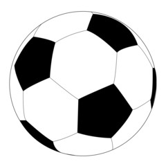 Simple style football / soccer ball isolated on white background