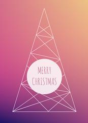 Christmas tree in minimalist design