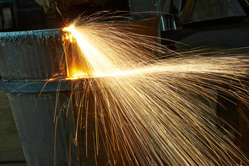 melting metal weld spatter