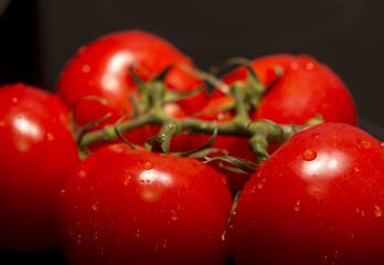 Tomaten auf Schwarzen untergrund