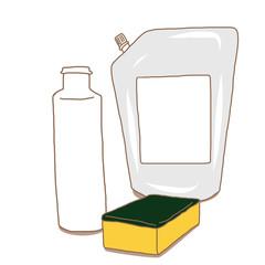 洗剤詰め替えとスポンジ