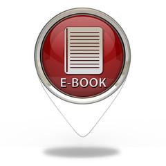 E-book pointer icon on white background