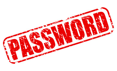 Password red stamp text
