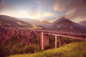 Sunset Bridge Mountain