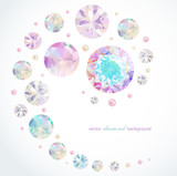 Fototapety Abstract background with diamonds and pearls