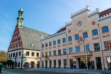 Zwickauer Rathaus mit Gewandhaus