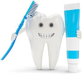 Zahn putzt sich