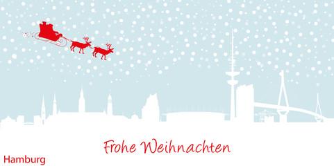 Weihnachtskarte Hamburg