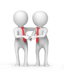 Handshake of businessmen at the office
