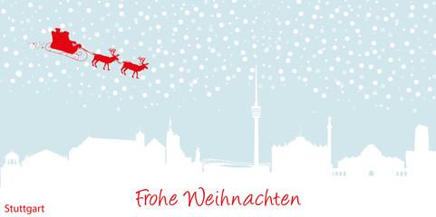 Weihnachtskarte Stuttgart