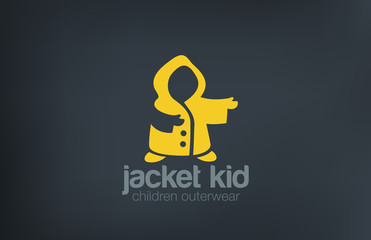 Kid Jacket Silhouette Logo design vector template