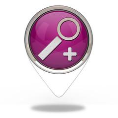 search pointer icon on white background