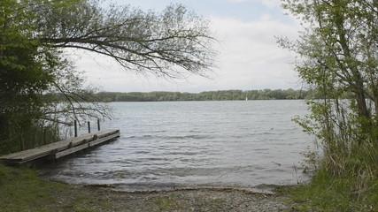 pier at a lake