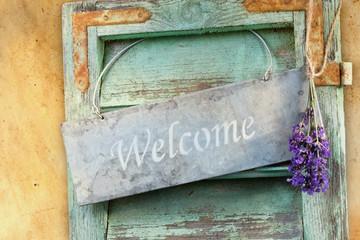 Willkommen-Schild