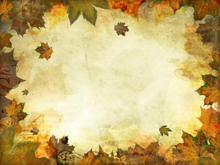 autumn leaves melancholy vintage background