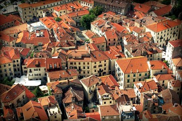 Old Town Kotor, montenegro - houses with red roofs