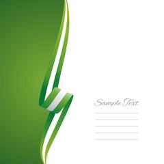 Nigeria left side brochure cover vector