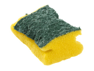 Used sponge isolated