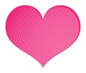 Halftone Heart Banner