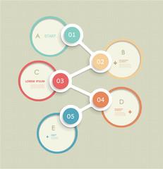 Minimal infographic circles design template