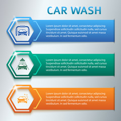 Car-wash-horizontal-banner-set-gray-background