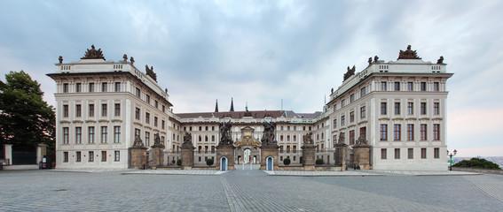 Prague president palace, panorama.