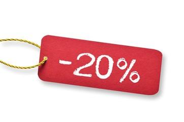 -20% Rabatt Schild