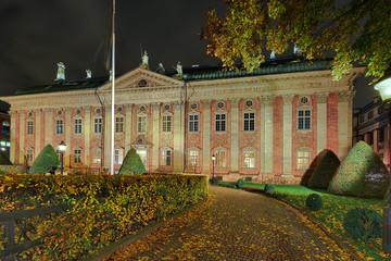 Riddarhuset Stockholm beleuchtet