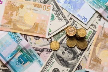 Euro dollars ruble