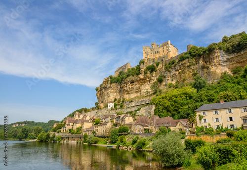Beynac-et-Cazenac old city on a cliff, Dordogne