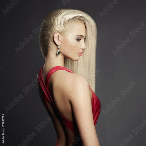 canvas print picture Elegant blonde with long hairs