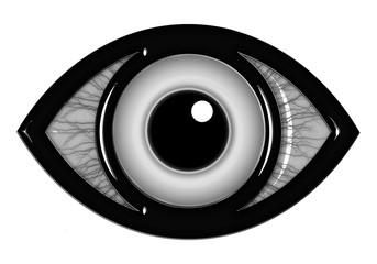 Eye icon with in black and white