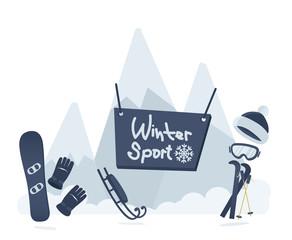 Winter sport poster design