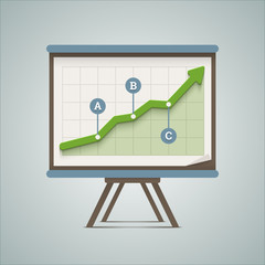 Growing chart presentation. Vector illustration in EPS10.