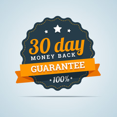 30 day money back badge.