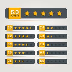 Rating stars badges. Vector illustration.