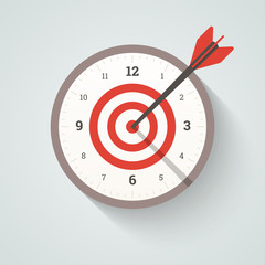 Achieving goal illustration. Vector in EPS10.